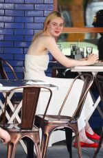 ELLE FANNING Out for Lunch in New York 06/02/2017