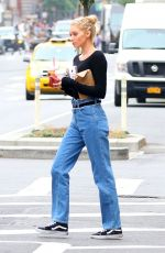 ELSA HOSK in Jeans Out in New York 06/16/2017
