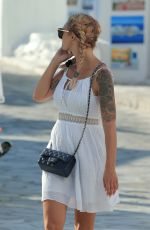 EMILIE NEF NAF Out and About in Mykonos 06/26/2017