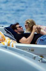 EMILY BLUNT in Bikini at a Boat in Italy 06/07/2017