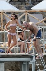 EMILY RATAJKOWSI in Bikini and Jeff Magid at a Beach in Tuscany 06/10/2017