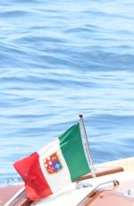 EMILY RATAJKOWSKI in Swimsuit at a Boaat in Italy 06/25/2017