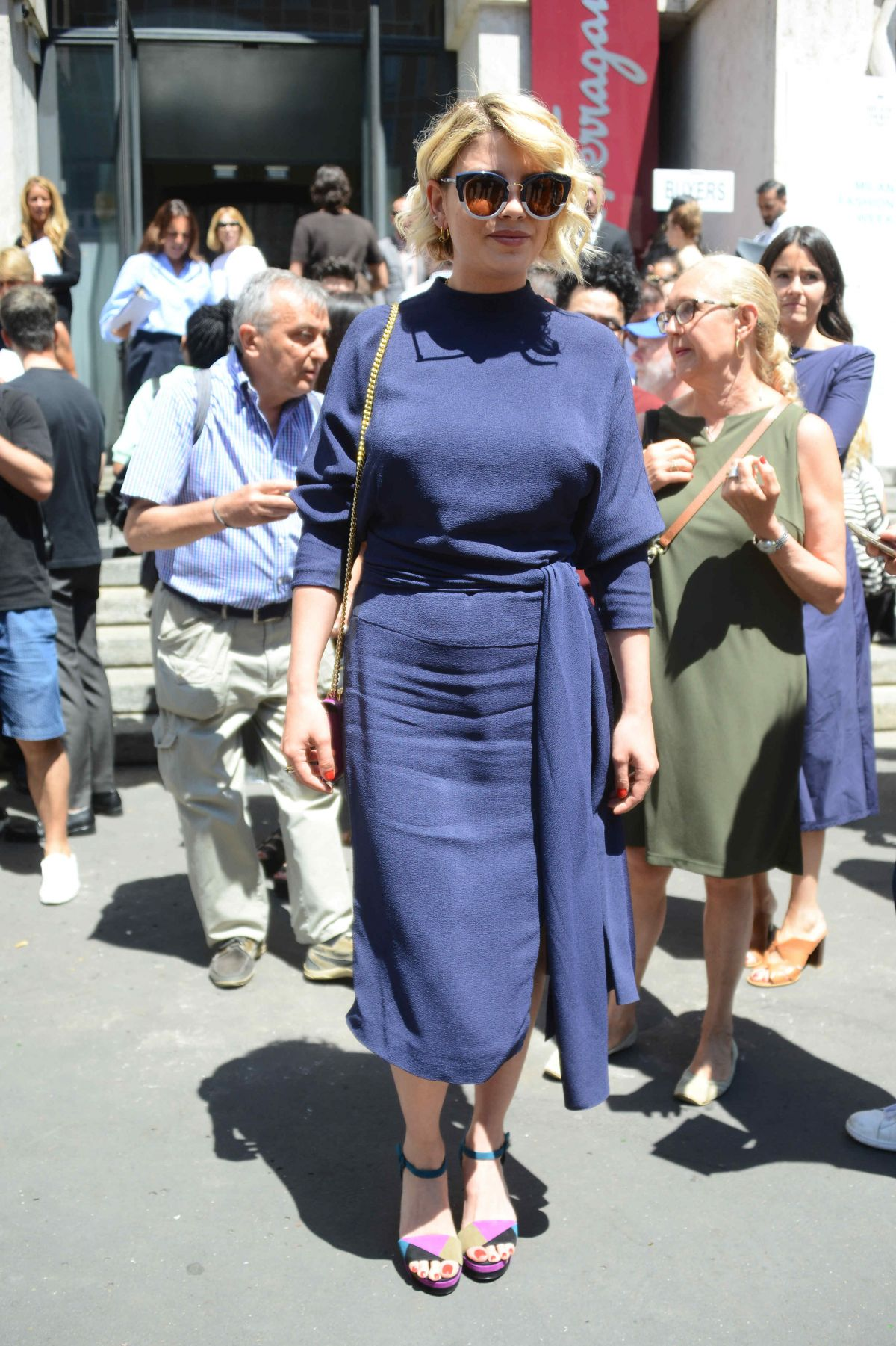 EMMA MARRONE at Salvatore Ferragamo Fashion Show at Milan Men
