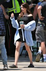 EMMA ROBERTS on the Set of Little Italy in Toronto 6/12/2017
