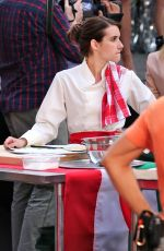 EMMA ROBERTS on the Set of Little Italy in Toronto 6/15/2017