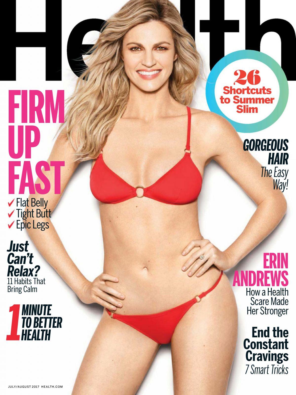 ERIN ANDREWS in Health Magazine, July/August 2017