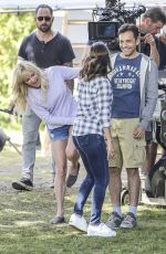 EVA LONGORIA and ANNA FARIS on the Set of Oerboard in Vancouver 06/06/2017