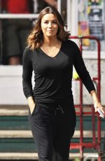 EVA LONGORIA Leaves the Set of Overboard in Vancouver 06/12/2017