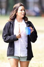 EVA LONGORIA on the Set of Overboard in Vancouver 06/28/2017
