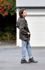 FRANCES BEAN COBAIN and Matthew R Cook Out Kissing in Los Angeles 06/11/2017