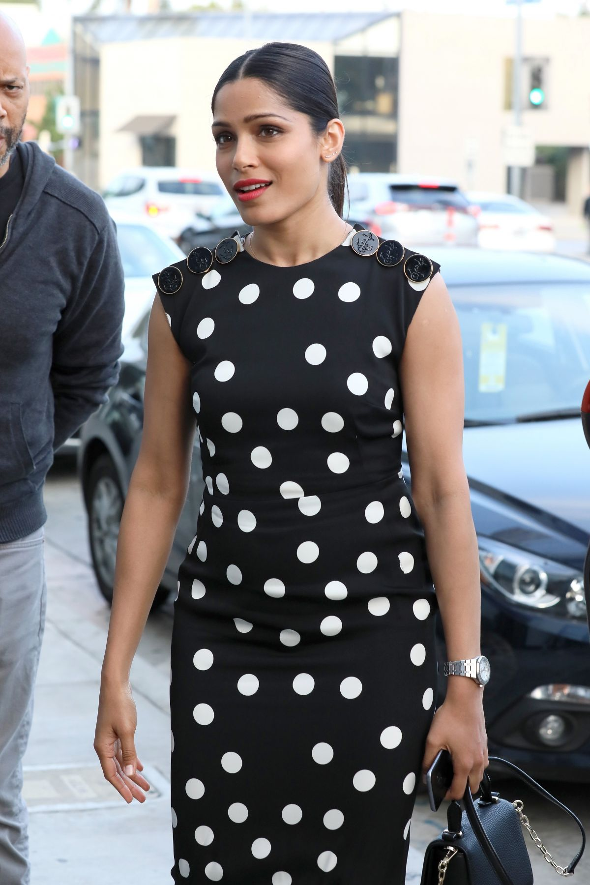 FREIDA PINTO at Catch LA in West Hollywood 06/05/2017
