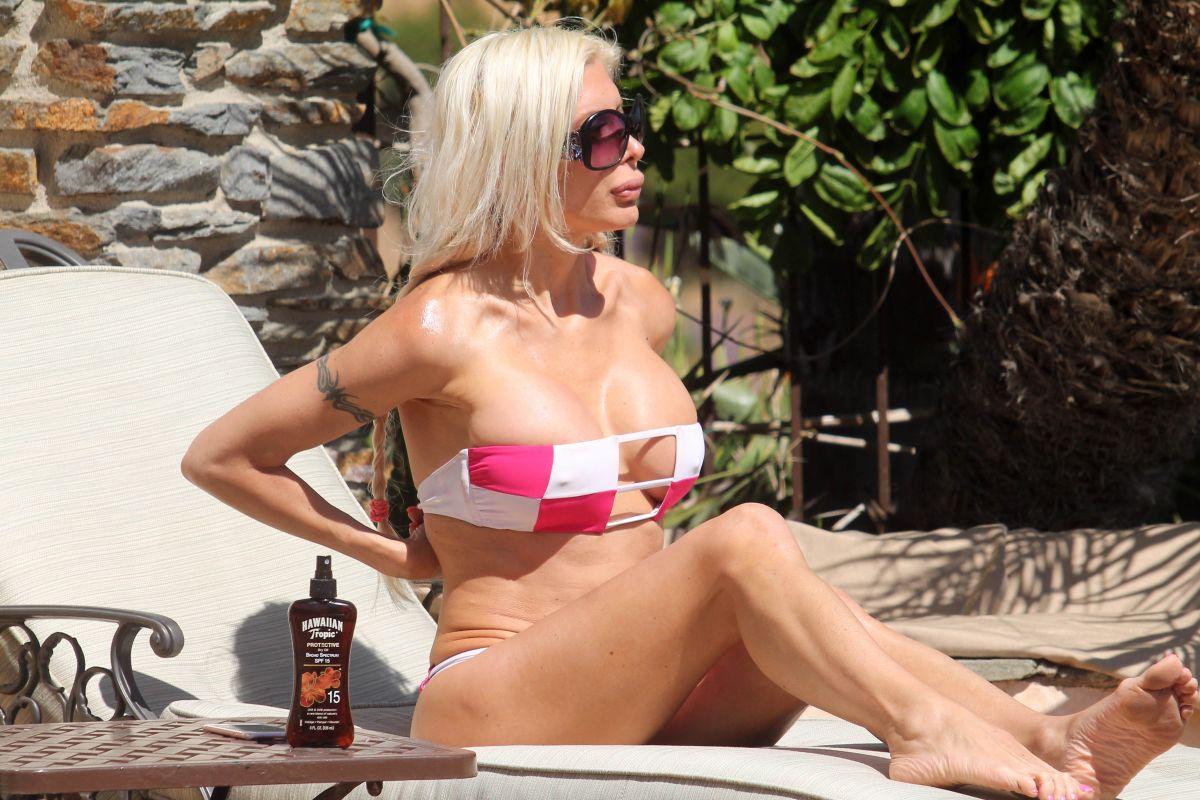 FRENCHY MORGAN in Bikini Sunbathing in Malibu 06/19/2017