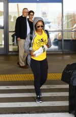 GABBY DOUGLAS at LAX in Los Angeles 06/03/2017