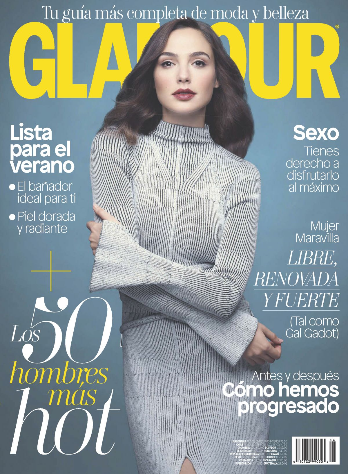 GAL GADOT in Glamour Magazine, Latin America June 2017