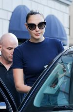 GAL GADOT Leaves Her Hotel in New York 06/01/2017