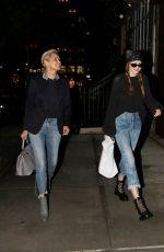 GIGI and YOLANDA HADID Night Out in New York 06/06/2017