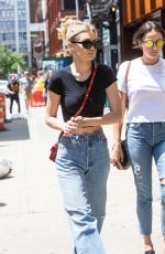 GIGI HADID in Jeans Out with a Friend in New York 06/28/2017
