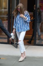 GIGI HADID Leaves Her Apartment in New York 06/04/2017