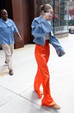 GIGI HADID Leaves Her Apartment in New York 06/19/2017