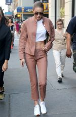 GIGI HADID Leaves Her Apartment in New York 06/21/2017