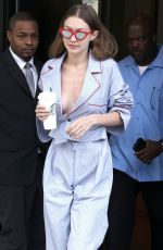 GIGI HADID Leaves Her Apartment in New York 06/23/2017