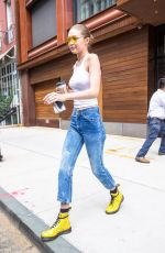 GIGI HADID Leaves Her Apartment in New York 06/26/2017