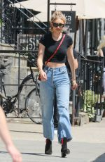 GIGI HADID Leaves Her Apartment in New York 06/28/2017