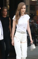 GIGI HADID Out and About in New York 06/10/2017