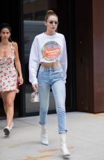 GIGI HADID Out and About in New York 06/14/2017