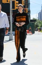 GIGI HADID Out and About in New York 06/20/2017