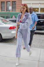 GIGI HADID Out and About in New York 06/23/2017