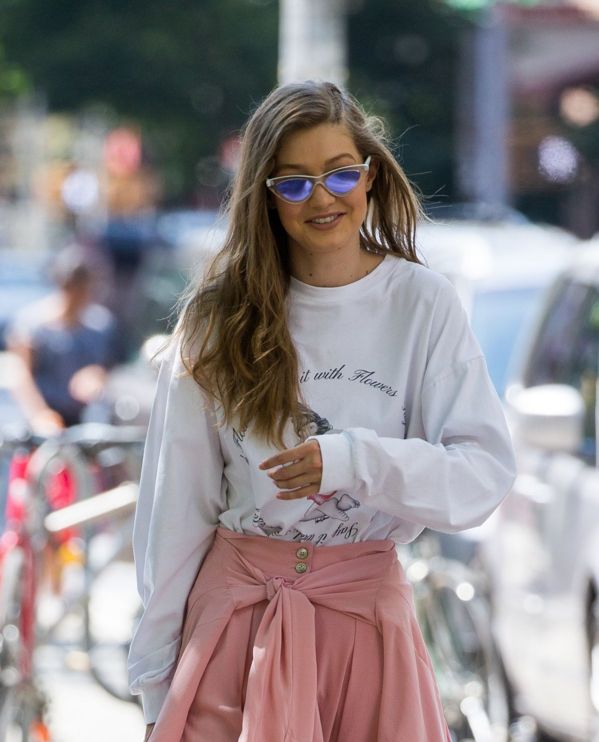 GIGI HADID Out in New York 06/11/2017
