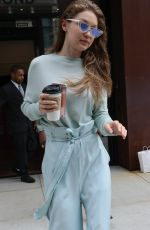 GIGI HADID Out in New York 06/15/2017