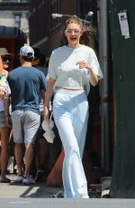 GIGI HADID Out in New York 06/25/2017