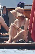 GILLIAN ANDERSON in Bikini on Vacation in Portofino 06/16/2017