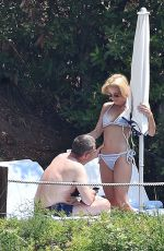 GILLIAN ANDERSON in Bikini on Vacation in Portofino 06/21/2017