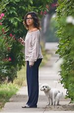 GINA RODRIGUEZ Out with Her Dog in Los Angeles 05/31/2017