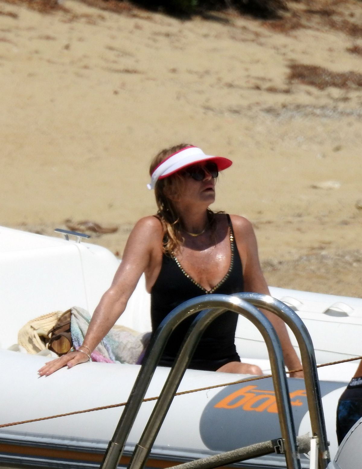 GOLDEI HAWN in Swimsuit on Vacation in Greece 06/15/2017