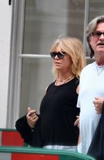GOLDIE HAWN and Kurt Russell Out and About in London 06/09/2017