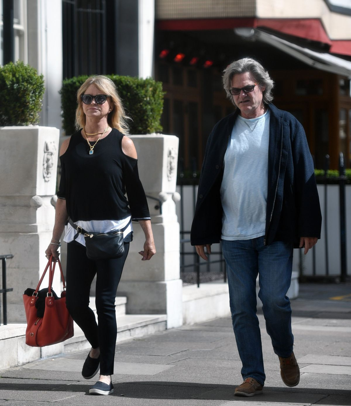 GOLDIE HAWN and Kurt Russell Out and About in London 06/09 ...
