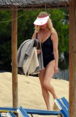 GOLDIE HAWN in Swimsuit on the Beach in Greece 06/15/2017