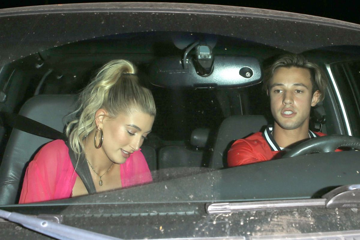 HAILEY BALDWIN and Cameron Dallas Night Out in West Hollywood 06/07/2017