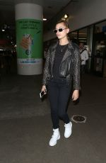 HAILEY BALDWIN at LAX Airport in Los Angeles 06/07/2017