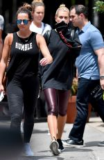 HAILEY BALDWIN Leaves a Gym in New York 06/19/2017