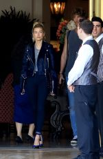 HAILEY BALDWIN Leaves Montage Hotel in Beverly Hills 06/01/2017