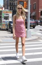 HAILEY CLAUSON in Short Dress Out in New York 06/21/2017