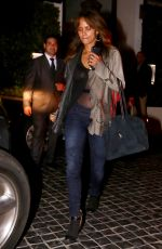 HALLE BERRY Out for Dinner in Beverly Hills 06/08/2017
