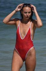 HAYLEY FANSHAWE in Swimsuit on the Beach in Magaluf 06/12/2017