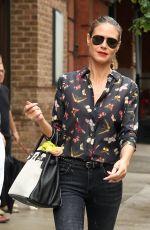 HEIDI KLUM Leaves Greenwich Hotel in New York 06/14/2017