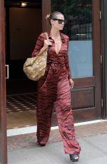 HEIDI KLUM Leaves Greenwich Hotel in New York 06/23/2017